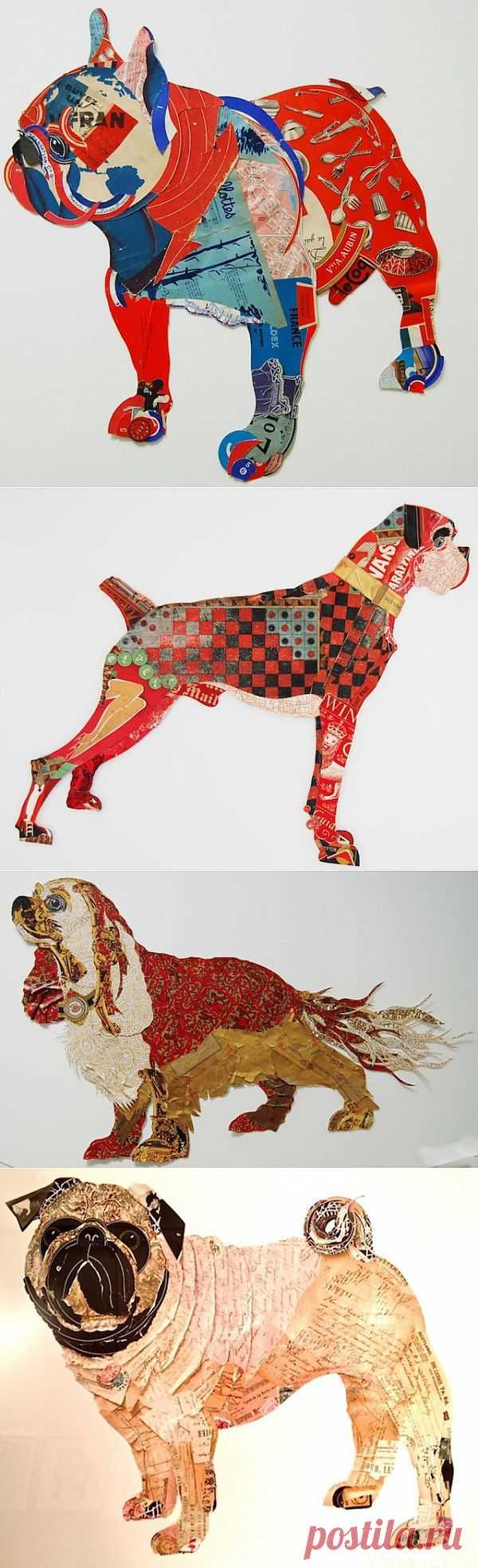 Собашки из бумажки / Арт-объекты / Модный сайт о стильной переделке одежды и интерьера