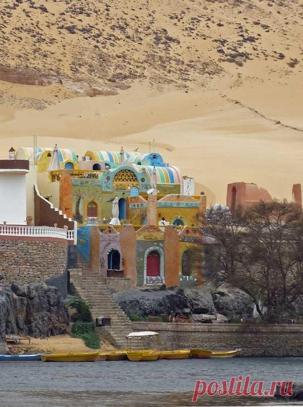 Нубийская деревня на берегу реки Нил, Египет
