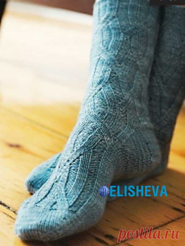 Красивые женские носочки Elm by Cookie. Схема и описание вязания