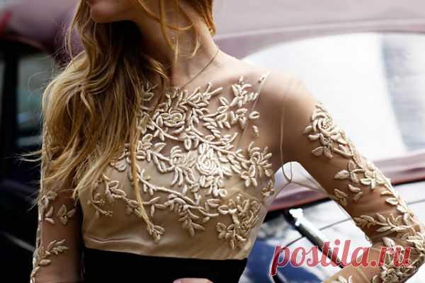 Вышивка гладью на шифоне / Вышивка / Модный сайт о стильной переделке одежды и интерьера