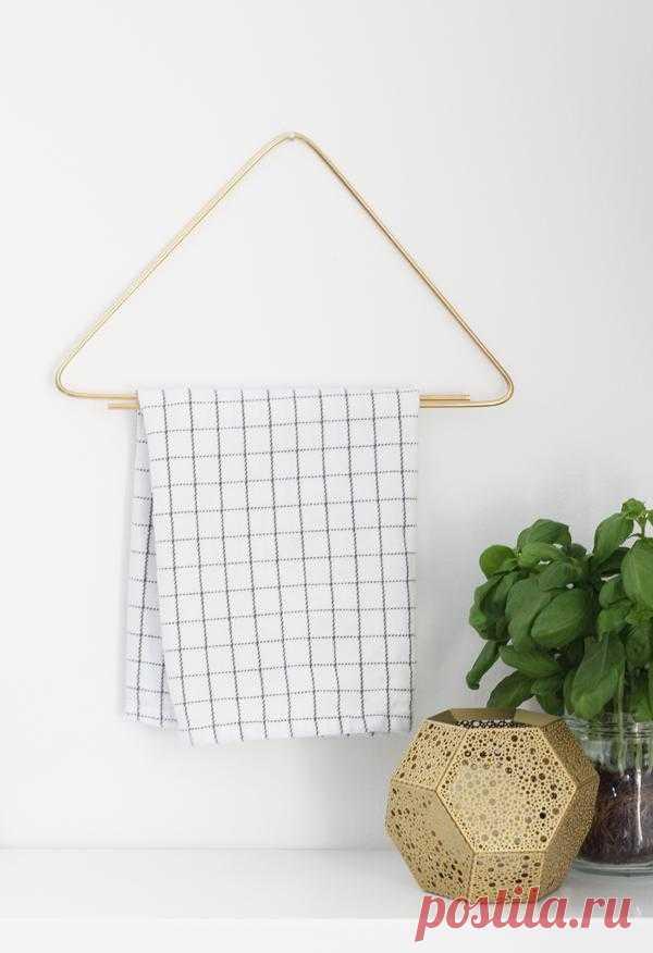 Вешалка для полотенец из латунной проволоки своими руками.