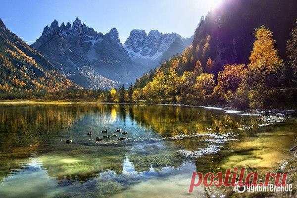 Гармоничное утро, Доломитовые Альпы, Италия | WorldCity