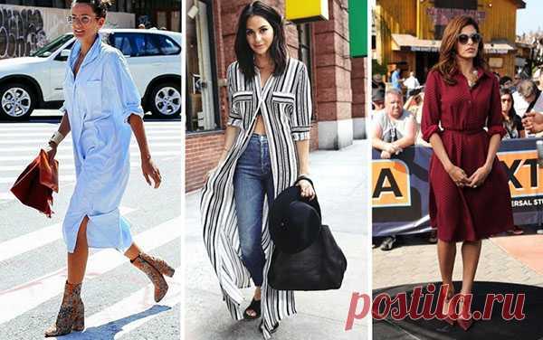 Как носить платье-рубашку: стильные варианты для всех типов фигур
