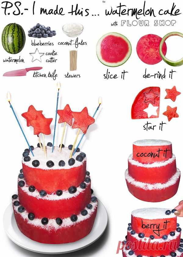 Арбузный торт / Рецепты / Модный сайт о стильной переделке одежды и интерьера
