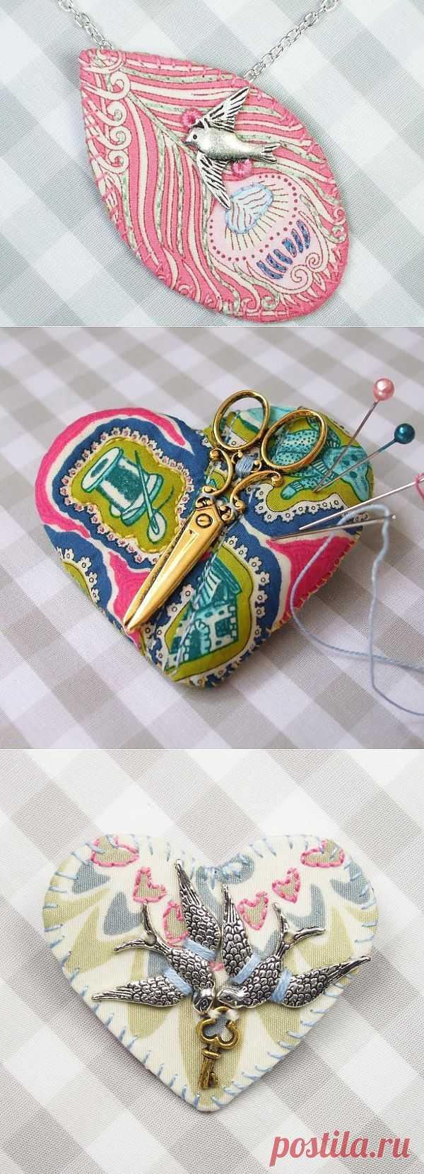 Вышитые украшения (подборка) / Вышивка / Модный сайт о стильной переделке одежды и интерьера