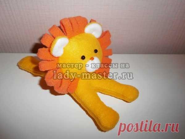 Мягкая игрушка лев своими руками, мастер - класс с фото, пошагово