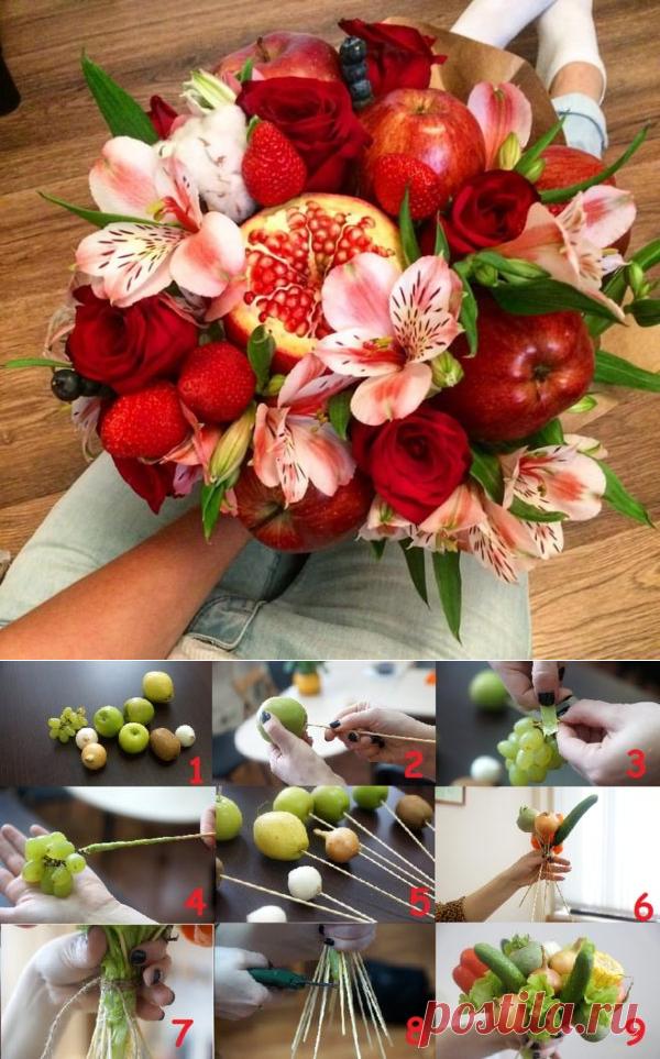 Букеты из 13 цветов и фруктов своими руками, орхидея букет цветов