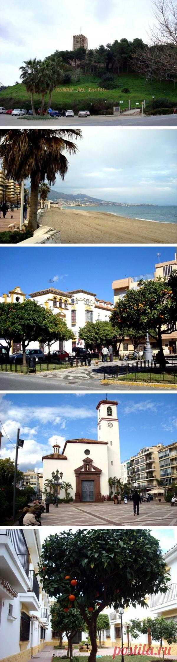 Вот так просто на испанских улочках растут апельсины. И некоторые из наших сограждан едут на зимовку в эти места. Фуенхиролла, Испания