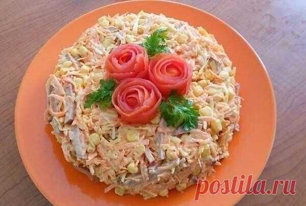 Вкусный салат с копченной колбасой — СОВЕТ !!!