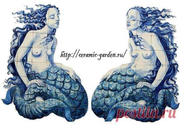 русалки  панно  ручная роспись
