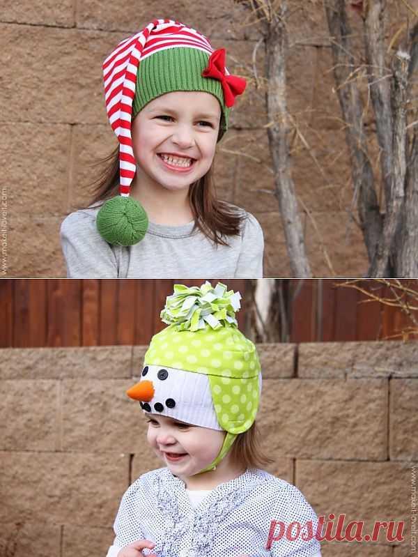Три новогодние шапки из свитера:-) / Для детей / Модный сайт о стильной переделке одежды и интерьера