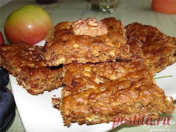 Как приготовить печенье с яблоками, финиками и грецкими орехами рецепт блюда с фото