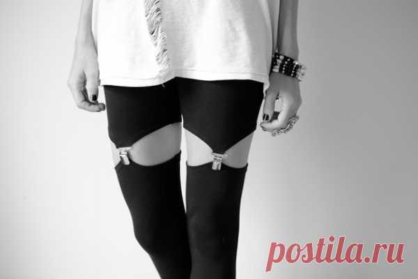 Трехминутная переделка леггинсов (DIY) / Носки, колготки, леггинсы / Модный сайт о стильной переделке одежды и интерьера