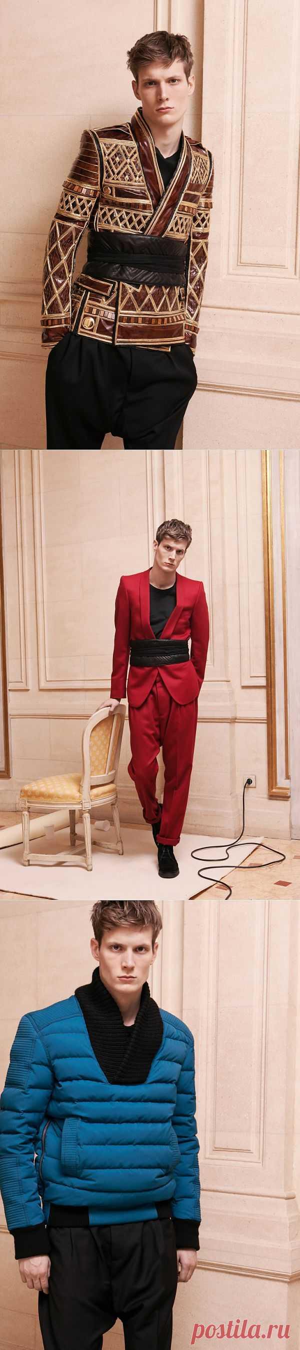 Поднебесная... Balmain MensWear Fall 2013 / Мужская мода / Модный сайт о стильной переделке одежды и интерьера