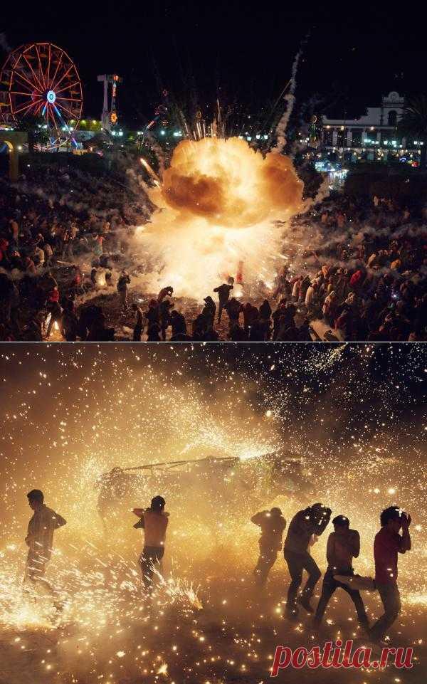 Сногсшибательная пиротехника – мексиканцы отжигают на фестивале фейерверков : НОВОСТИ В ФОТОГРАФИЯХ