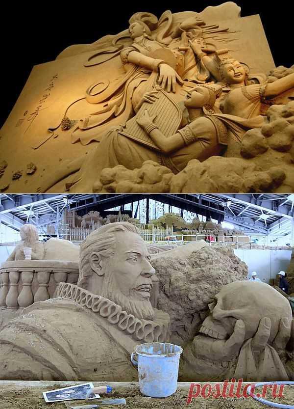 (+1) - Искусство создавать скульптуры из песка (видеоподборка) | Искусство