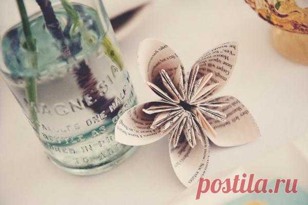 Бумажные цветы в свадебном декоре - WeddyWood