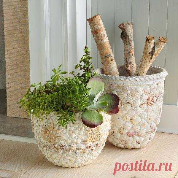 «Декор цветочных горшков своими руками» — карточка пользователя YusyaMay в Яндекс.Коллекциях