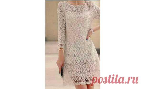 b9d82cd571c Шикарное ажурное платье Вязаное крючком шикарное ажурное платье. Схе ...