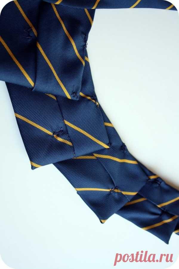 Мастер-класс - ожерелье из галстука / Мужские галстуки / Модный сайт о стильной переделке одежды и интерьера