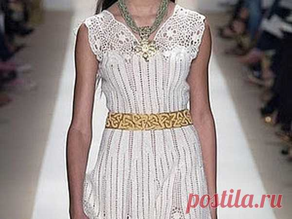 Вяжем белое платье: прекрасные наряды от известных дизайнеров   Журнал Ярмарки Мастеров