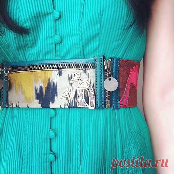 Летний пояс с кармашком / Вещь / Модный сайт о стильной переделке одежды и интерьера