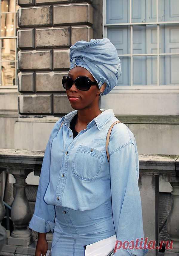 Джинсы (?) на голову / Креатив в моде / Модный сайт о стильной переделке одежды и интерьера