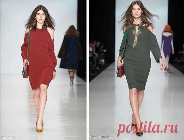 Трикотажные платья из новой коллекции Ахмадуллиной / Прорези / Модный сайт о стильной переделке одежды и интерьера