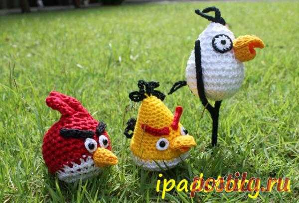 Птички из игры Angry Birds Связаны крючком столбиками без накида