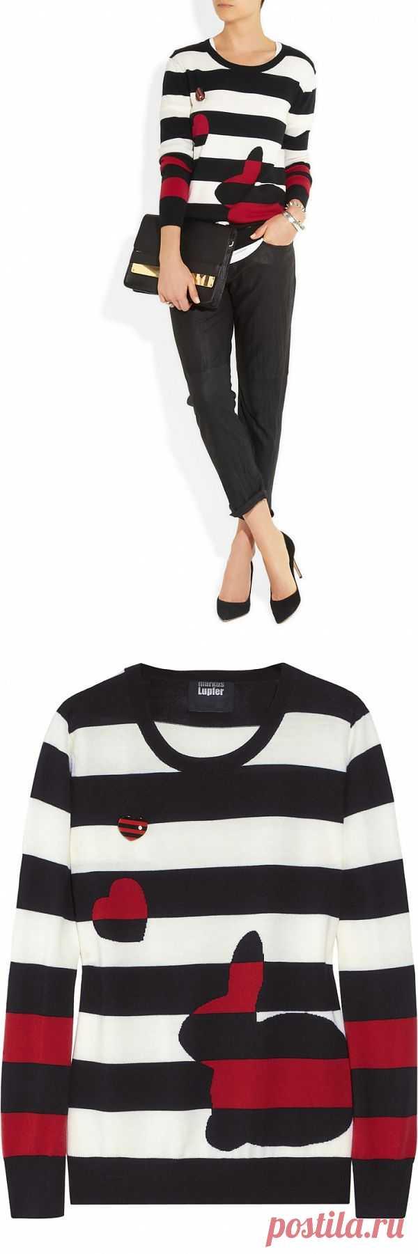 Заяц в полоску / Свитер / Модный сайт о стильной переделке одежды и интерьера