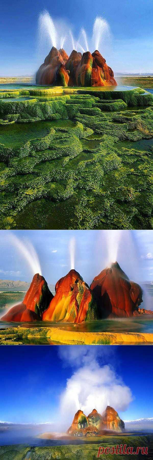 Гейзер Флай – скрытое сокровище Невады : НОВОСТИ В ФОТОГРАФИЯХ