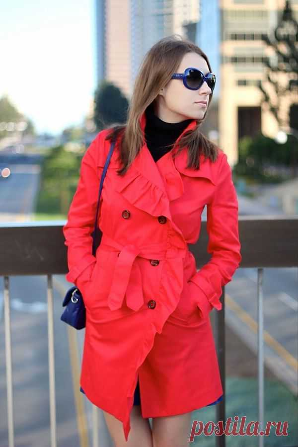 Плащ с оборкой / Пальто и плащ / Модный сайт о стильной переделке одежды и интерьера