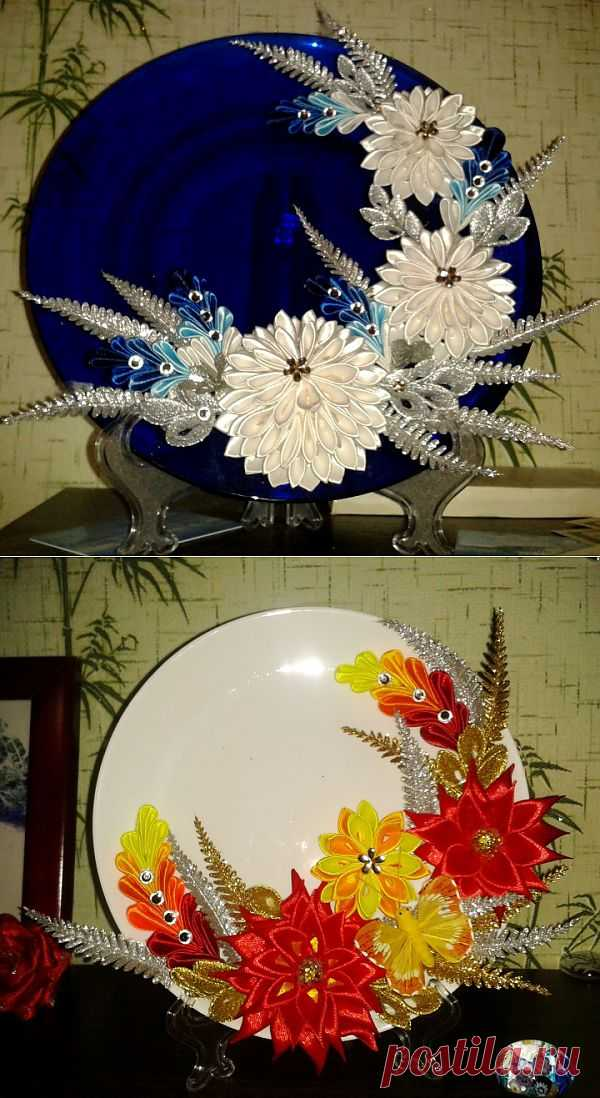 (+1) - Канзаши в декорировании | РУКОДЕЛИЕ