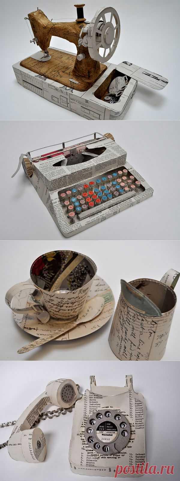 Поделки из бумаги / Арт-объекты / Модный сайт о стильной переделке одежды и интерьера