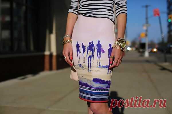Море, девушка, тельняшка / Рисунки и надписи / Модный сайт о стильной переделке одежды и интерьера