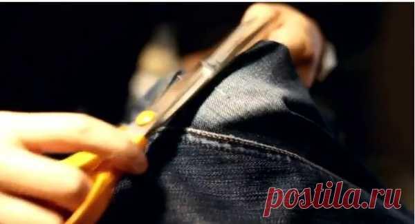 Видео уроки по ремонту протертых джинсов / Ремонт одежды / Модный сайт о стильной переделке одежды и интерьера