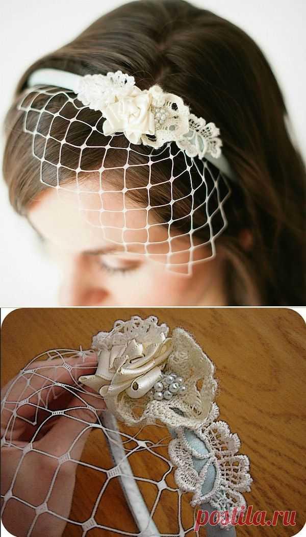 Ободок с вуалью на свадьбу (Diy) / Свадебная мода / Модный сайт о стильной переделке одежды и интерьера