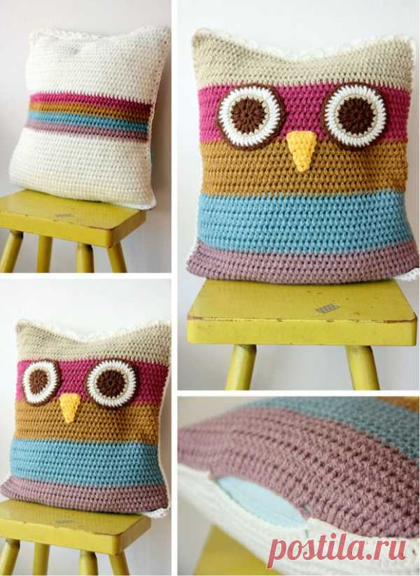 Simple and cheerful pillow owl hook.