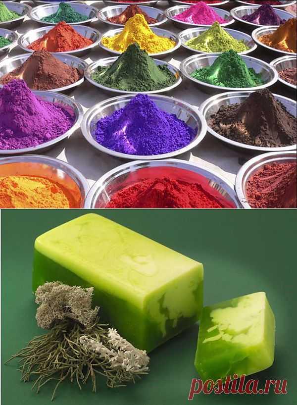 Природные красители для мыловарения и рецепт травяного мыла.