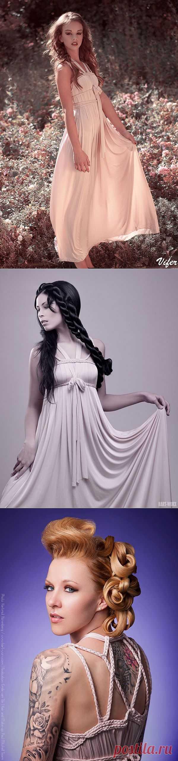Платье с декором из косичек / Декор / Модный сайт о стильной переделке одежды и интерьера