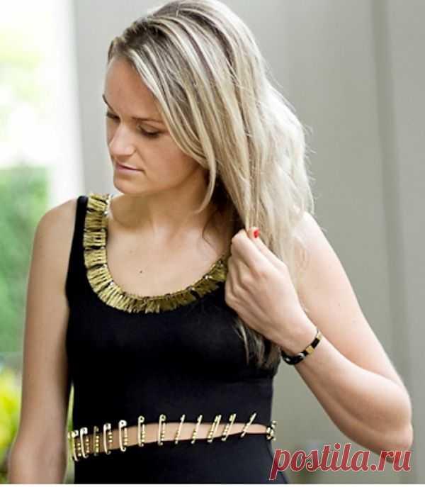 Платье на булавках с бахромой (DIY) / Платья Diy / Модный сайт о стильной переделке одежды и интерьера