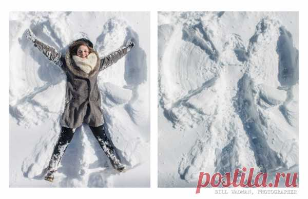 как сделать снежного ангела!