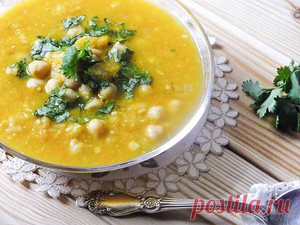 Легкий суп из нута и чеснока по-тунисски!