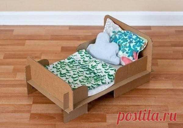 Кровать для куклы DIY Модная одежда и дизайн интерьера своими руками