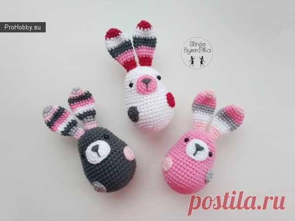 вязаные пасхальные зайки вязание игрушек Prohobbysu вязание