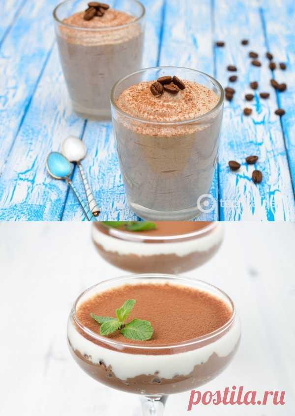 Необычный десерт - кофейное желе (для получения рецепта нажмите 2 раза на картинку)