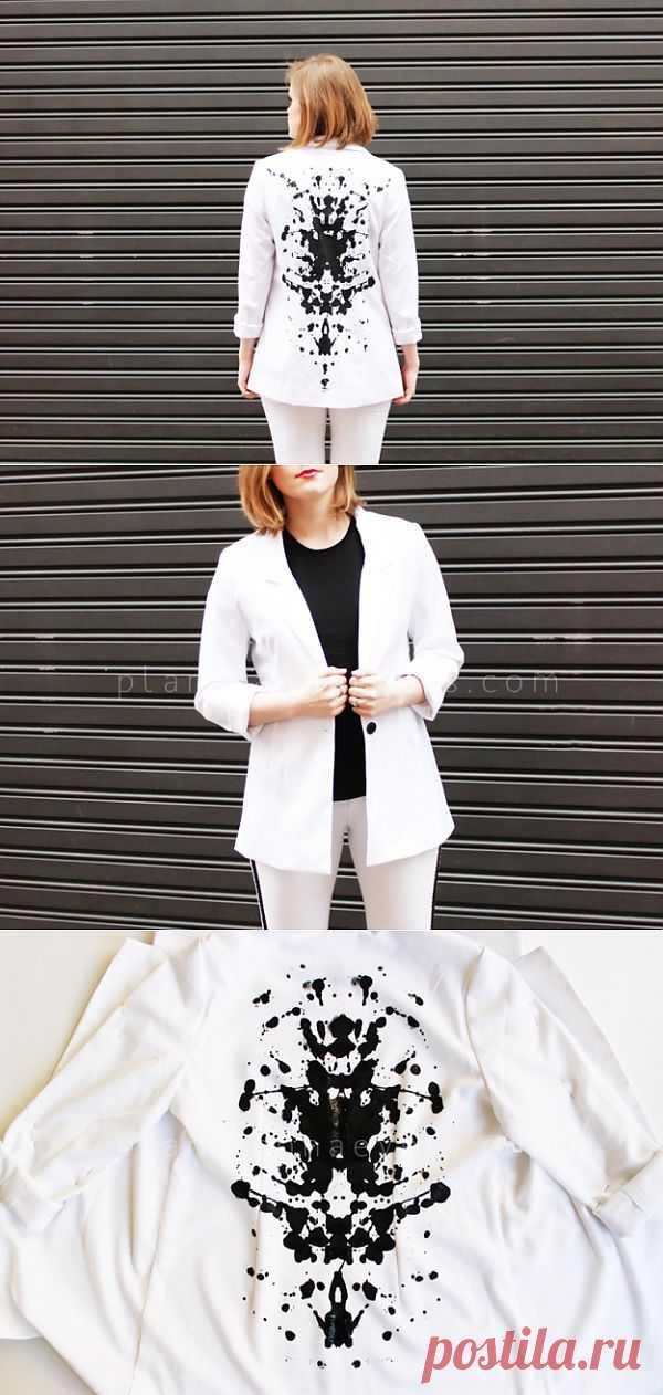Пятна Роршаха на белом жакете (Diy) / Жакеты / Модный сайт о стильной переделке одежды и интерьера