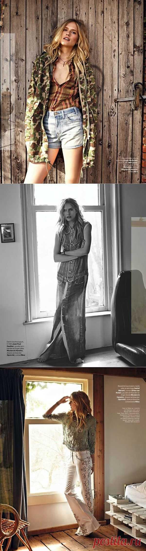 Июльский деним / Обзор журналов / Модный сайт о стильной переделке одежды и интерьера