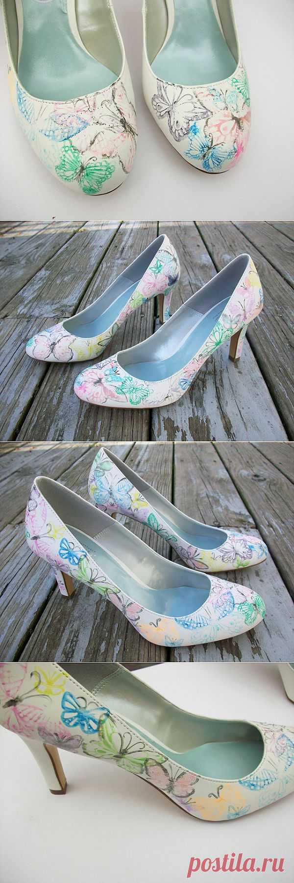 Бабочки на туфлях (мастер-класс) / Обувь / Модный сайт о стильной переделке одежды и интерьера