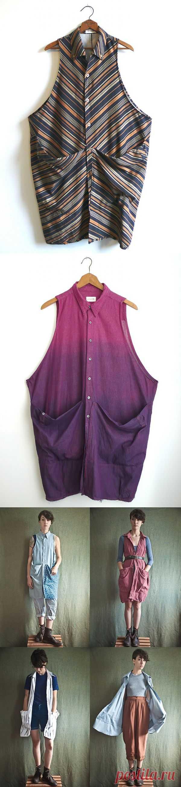 Очень длинная рубашка была... / Рубашки / Модный сайт о стильной переделке одежды и интерьера